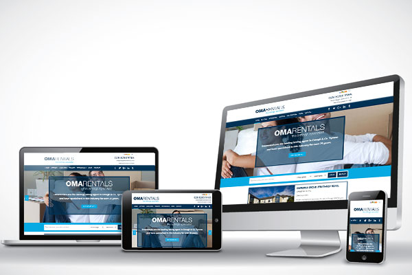 Mobile Devices Showing Online Marketing