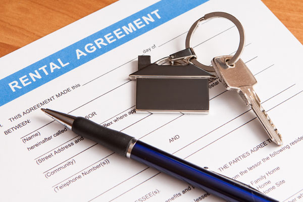 Rental Agreement Form, With Key And Pen
